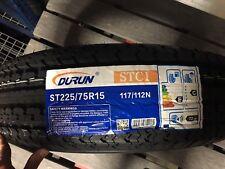 2 NEW ST 225/75R15 Durun 10PLY Radial Trailer Tires R15 75R 2257515 Load Range E