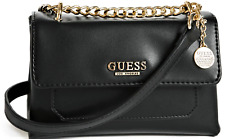 NWT GUESS LOCKLYN HANDBAG Small Black Logo Crossbody Shoulder Bag GENUINE