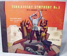Tchaikovsky Symphony No. 5 78 RPM Record Set Boston Orchestra Serge Koussevitzky