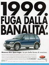 AUTO999-PUBBLICITA'/ADVERTISING-1999- KIA SPORTAGE