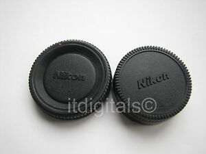 For Nikon Body & Rear Lens Cap Cover For AF SLR DSLR AI AIS NON AIS F Mount