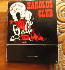 New Unstruck vintage Reno Nv matchbook Harolds Club