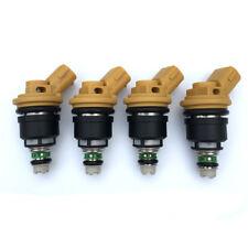 OEM 550cc Yellow Side Feed Injectors 16600-AA170 For Subaru Sti WRX GC8 Set(4)