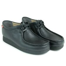 Clarks Men's Stinson Lo Derbys, Black Leather Leather UK Size 9/43 G