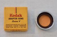 "Vintage Kodak Adapter Ring Series V 15/16"" 23.5mm in Original Box  Free Shipping"