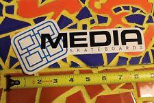 MEDIA Skateboards Bike 90's Vintage Skate STICKER