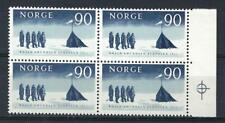 Norway 1961 Sc# 400 Amudsen South Pole 50th anniversary block 4 MNH