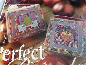 CROSS STITCH CHART 2 CHRISTMAS  FESTIVE MOTIF CHARTS ONLY PUDDING & TREE