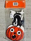 A Vintage 1994 Shackman SPOOKY Diecut Halloween Decorations *CAT  *WITCH *BAT