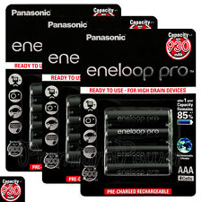 12x Panasonic Eneloop PRO AAA batteries 930mAh Rechargeable High Ni-MH Accu HR03