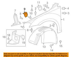 VW VOLKSWAGEN OEM 15-18 Golf Fender-Front Support 5G0809561