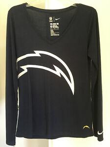 Los Angeles Chargers LA San Diego Lightning Bolt Long Sleeve Womens Top Medium