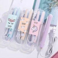 Mini Fer à Lisser Boucler Lisseur Céramique Cheveux Pince Plaque Beauté portatif