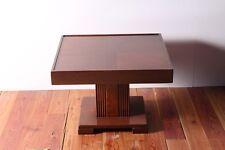 Tavolo tavolino da salotto in legno tanganica quadrato cm 65x65 h 45 arredo
