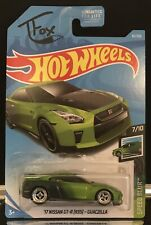 2019 Hot Wheels Custom 17 Nissan GT-R Guaczilla With Real Riders For Show