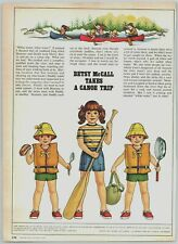 1978 McCalls Paper Dolls Betsy McCall takes A Canoe Trip Print Ad