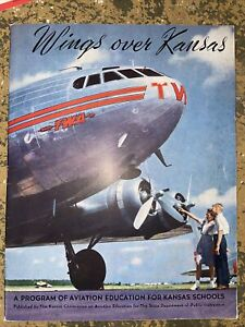 1946 TWA Wings Over Kansas  48 Page  Booklet Educational Aviation Excellent Conf