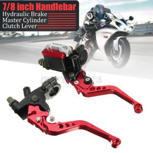 7/8'' Universal Motorcycle Front Brake Clutch Lever Master Cylinder Reservoir