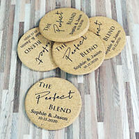 Personalised Wedding Favors Cork Coaster Custom Home Decor Housewarming Gift g