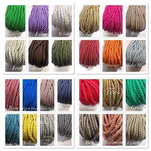 6 MM Satin/Silk 3 PLY Barley Rope Cord Twisted Cord - Braid - Trim - Kordel -