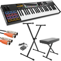 M-Audio Code 49 49-Key USB/MIDI Keyboard Controller + Stand, Bench, Pedal & More