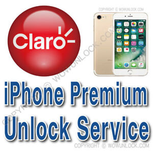 Premium Unlock Code Service Claro iPhone 8 8+ 7 7+ 6S 6S+ 6 6+ SE 5S All Country
