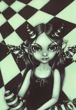 Horned Fairy Gothic Faery Postcard Goth Faerie Post Card Jasmine Becket-Griffith