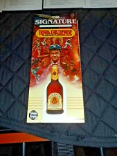 1985 Stroh's Signature Beer Trivia Challenge Series Two Table Tent