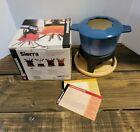 Swissmar Sierra 1.6 Q. Cast Iron Fondue Pot With Lid, Stand & Box
