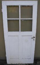 Zimmertür Tür Holztür um 1900 Tür 1,90 x 91 cm mit Sprossen und Glas