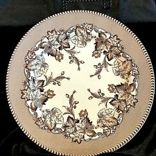 "Spode WESTBOURNE 8 3/8"" SALAD PLATE Brown Transferware Oak Leaves Acorn England"