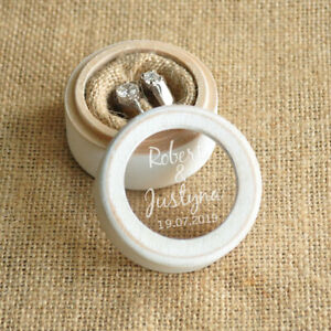 Personalized Ring Box Wedding Gift Engagement Wooden Ring Bearer Box Jewelry Box