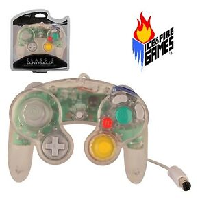 Brand New Controller for Nintendo GameCube or Wii -- Crystal CLEAR