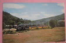 Steamtown USA Bellows Falls Vermont  Train Railway Postcard