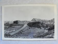 "RPPC N.D. Badlands Scenic HWY, Real ""Osborn / Dickinson, N.D."" Photo Postcard PC"