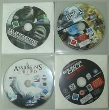 LOT DE 4 JEUX ACTION PC NEUF   spinter cell / assasin's creed / ghost recon /