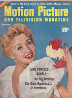 SEPT 1954  MOTION PICTURE vintage movie magazine JANE POWELL