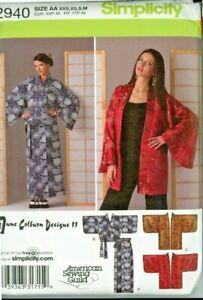 Misses Designer Skirt Kimono Simplicity #2940 Sizes XXS -  Med.  Uncut