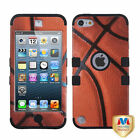 Basketball High Impact Armor Hard Soft Rubber Hybrid Case For iPod Touch 5th Gen