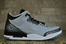 BRAND NEW Nike Air Jordan III 3 Retro 136064-004 Wolf Grey Silver Men's Size 12