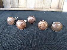 Antique Copper Round Hammered Metal Knob  Drawer Pull - Rustic Vintage Romantic