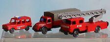 Wiking 093404 + 096203 + 096501 , Spur N, 3 Feuerwehr-Fahrzeuge