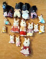 Sylvanian Families - Bouquet Skunk and Chocolate Rabbit families RARE