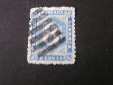LIBERIA, SCOTT # 32,8c. VALUE BLUE 1889 NUMERICAL ISSUE USED