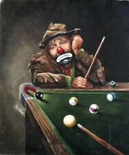 New listing JON HELLAND PAINTING EMMETT THE POOL PLAYER (PUBLISHED PLATE)