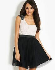 Polyester One Shoulder Short/Mini Skater Dresses for Women