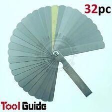 32 Mechanics Blade Feeler Gauge, Metric & Imperial, Thickness Gap Measurement