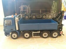 1:50 Mercedes benz actros 8x4 pritsche mit kran (platform with crane ) NZG rare