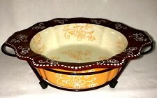 TEMP-TATIONS FLORAL LACE SPICE PRESENTABLE OVENWARE  #20391