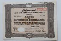 29396 Partager Sachsenwerk Lumière Et Kraft Ag Dresden Niedersedlitz 1000 Mark